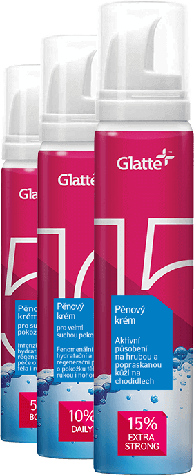 3 types of Glatte cream
